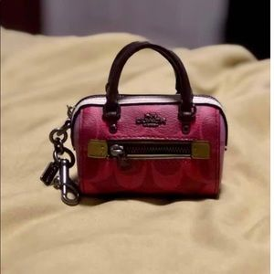 Coach mini bag charm